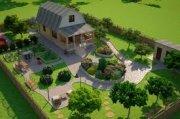 Современный ландшафтный дизайн загородных домов